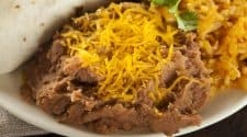 Plate of home made refried beans